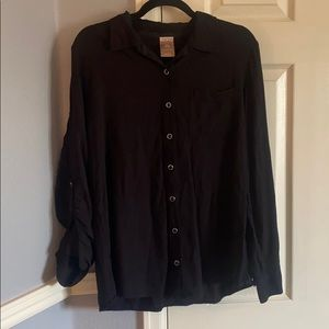 Black Button Up Blouse